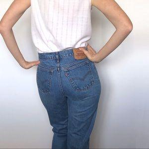Vintage LEVI'S 505 Mid Wash Blue Denim Jeans